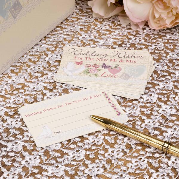 Wunschkarten Wedding Wishes 'With Love' (25 Stück)