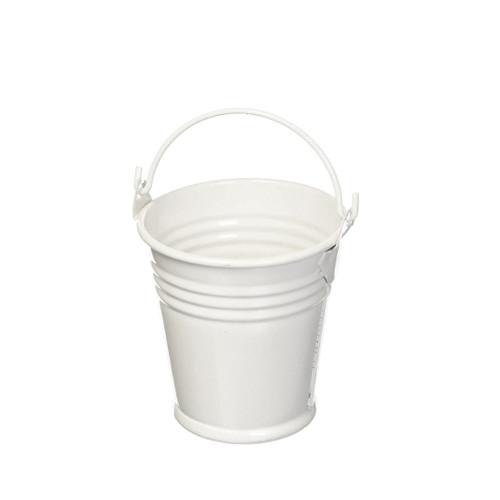 Mini-Eimer (12 Stück) - weiß