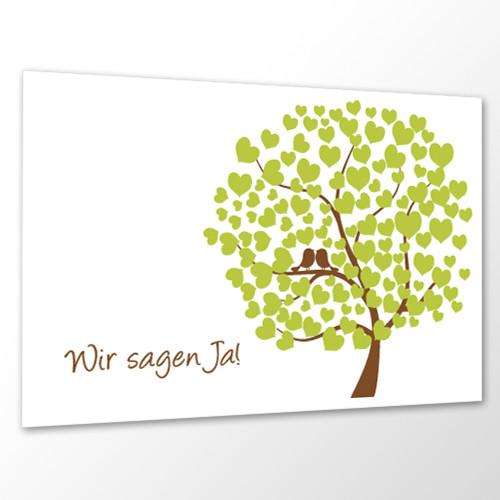 Save the Date Karte Hochzeit - Bird Tree