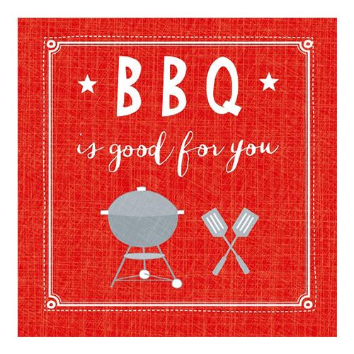 Servietten BBQ ist good for you (20 Stück) - rot