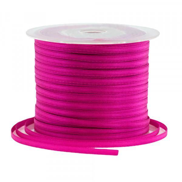 Satinband 3 mm x 100 m - fuchsia / pink