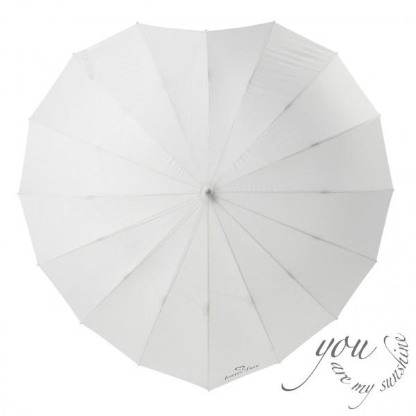 Wedding Regenschirm Herz 'you are my sunshine' - creme