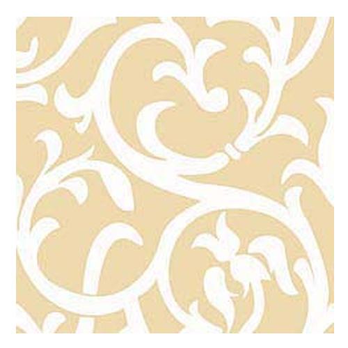 Servietten 'Ornament' (20 Stück) - champagner & weiß