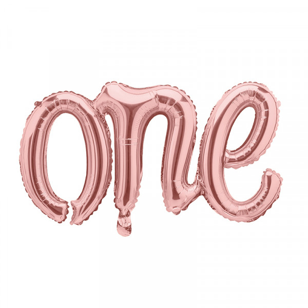 Folienballon 'one' 1. Geburtstag 66 cm - roségold
