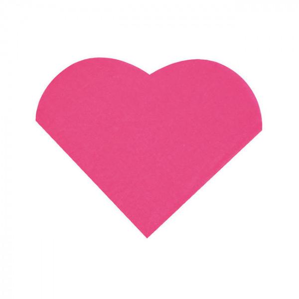 Cocktailservietten Herz (20 Stück) - pink