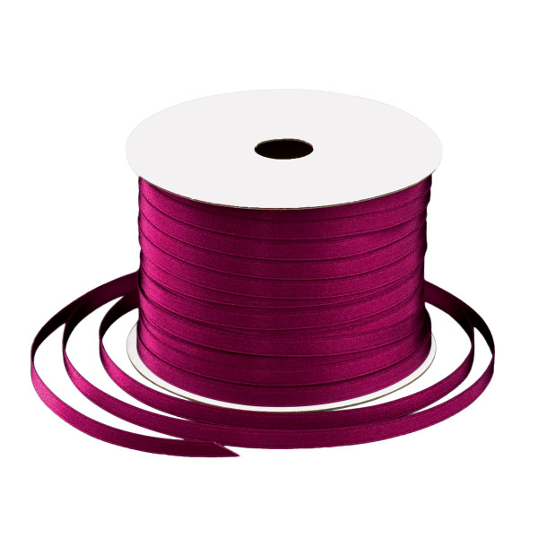 Satinband 6 mm x 91 m - bordeaux