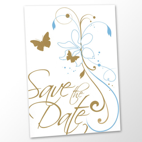 Save the Date Karte Hochzeit - Butterfly