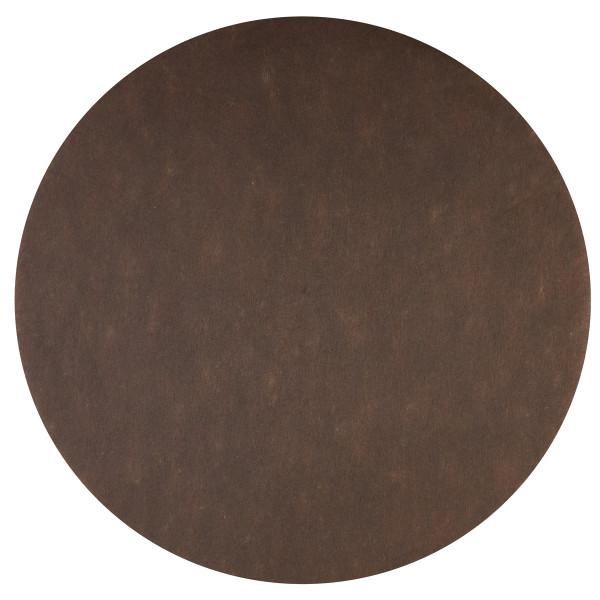 Platzset / Tischset Vlies rund 34 cm (50 Stück) - braun