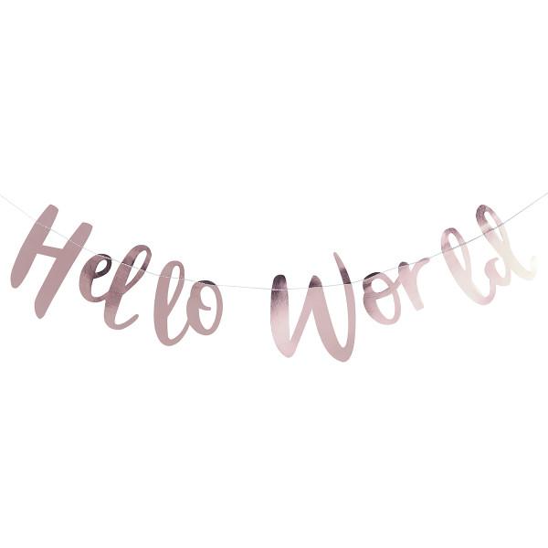 Hello World Girlande - roségold