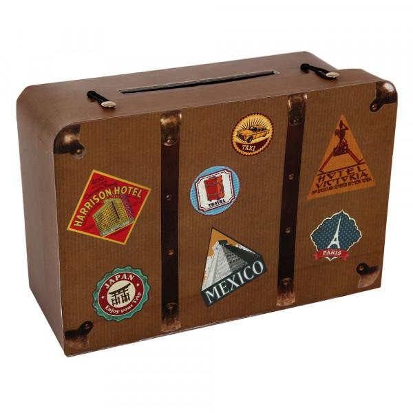 Briefbox / Geschenkbox Koffer 26 x 16 x 10 cm