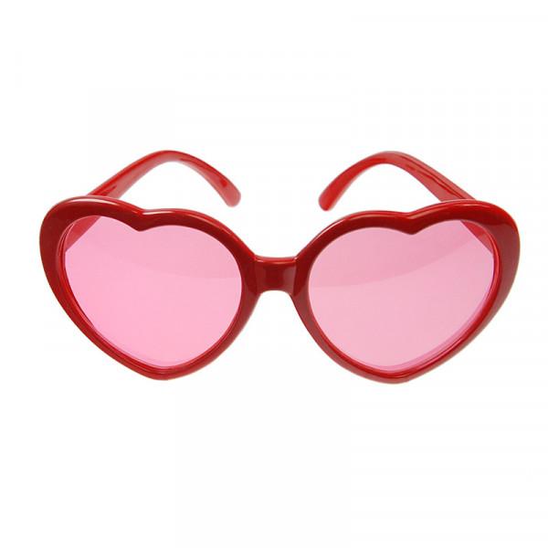 Spaß Brille Herz für Photo Booths - rot