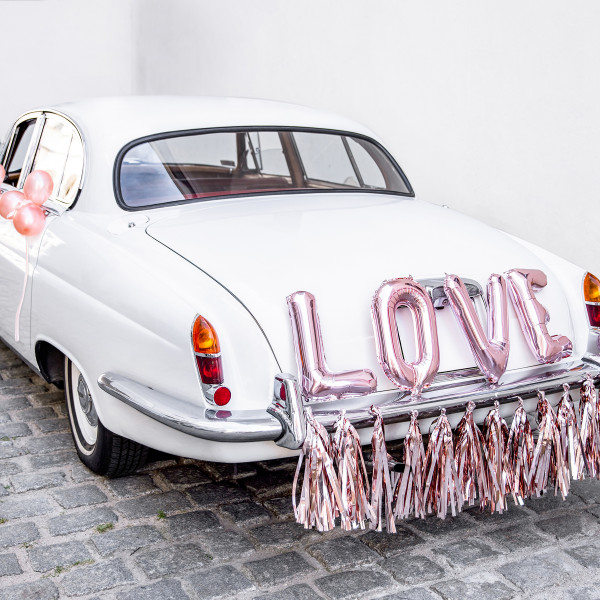 Autodekorations-Set Folienballons Love - roségold