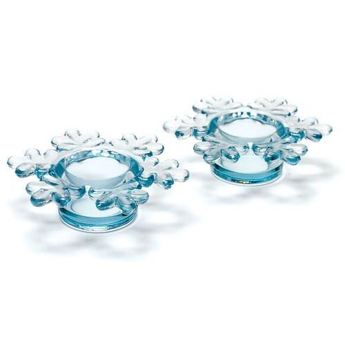 Teelichthalter 'Schneeflocke' (2 Stück) - transparent