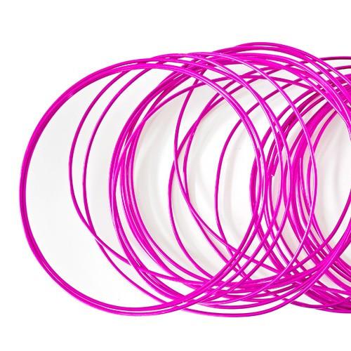 Basteldraht / Dekodraht 2 mm rund 12 m - Pink