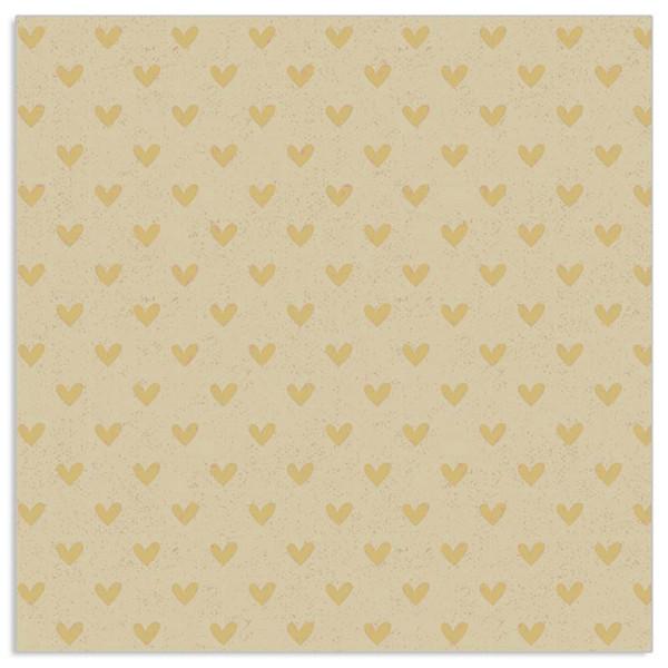 Servietten Herzen (20 Stück) Organics - kraft & gold