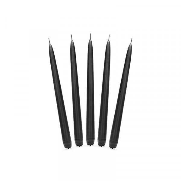 Spitzkerzen (10 Stück) - schwarz
