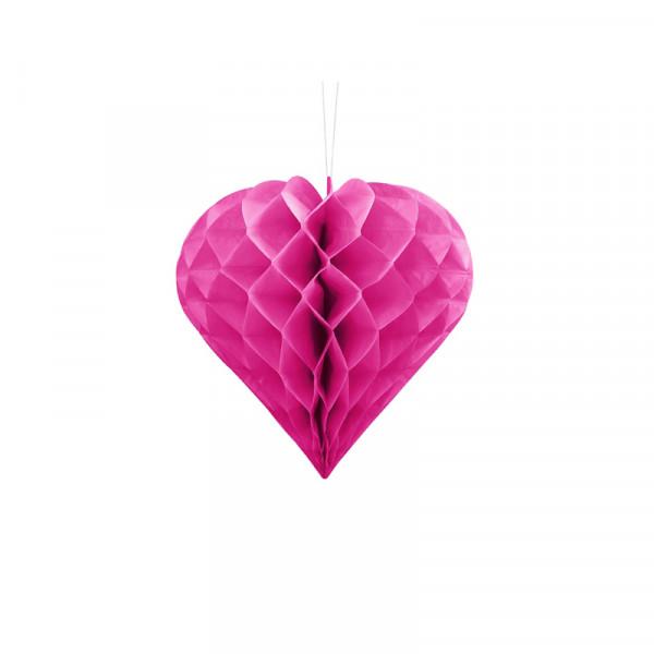 Herz Honeycomb / Wabenball Pink 20 cm