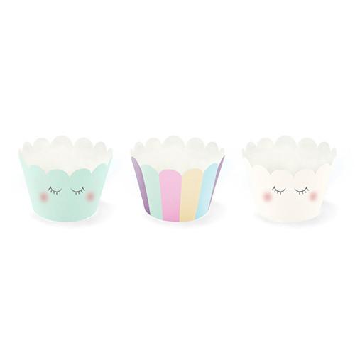 Einhorn Party Cupcake / Muffin Wrapper (6 Stück)