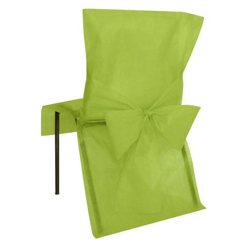 Stuhlhussen mit Schleife, Vlies (10 Stück) hellgrün