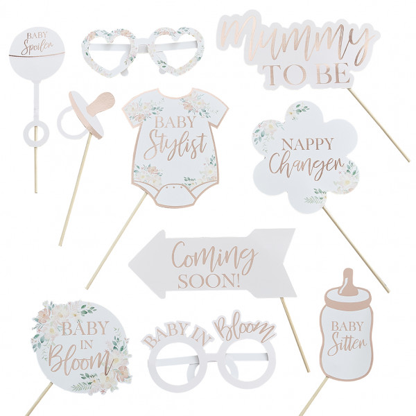 Baby in Bloom Photo Booth Set 10 tlg.