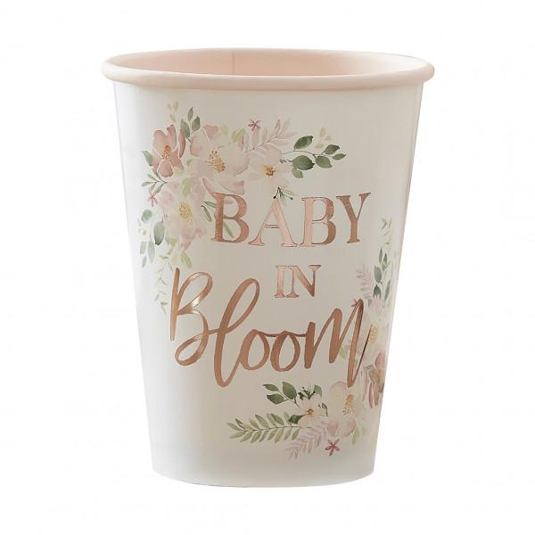 Baby in Bloom Becher (8 Stück)