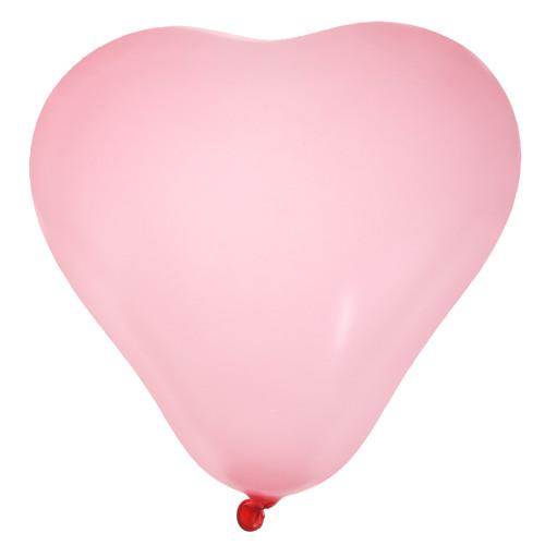 Luftballons 'Herz' / Herzballons (8 Stück) - rosa