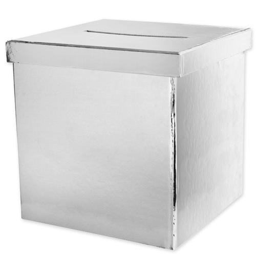 Briefbox / Geschenkbox 20 x 20 cm - silber