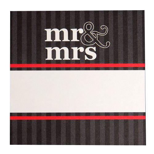 Tischkarte - Mr. & Mrs. (1 Stück)