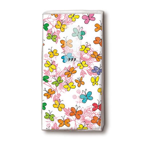 Taschentücher 'Papillons' 10 Stück