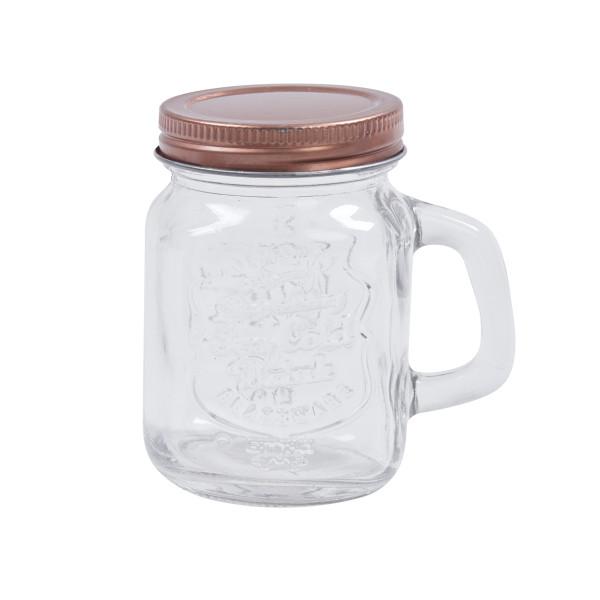 Mini Deko-Gläser mit Deckel - 4 Stück - roségold