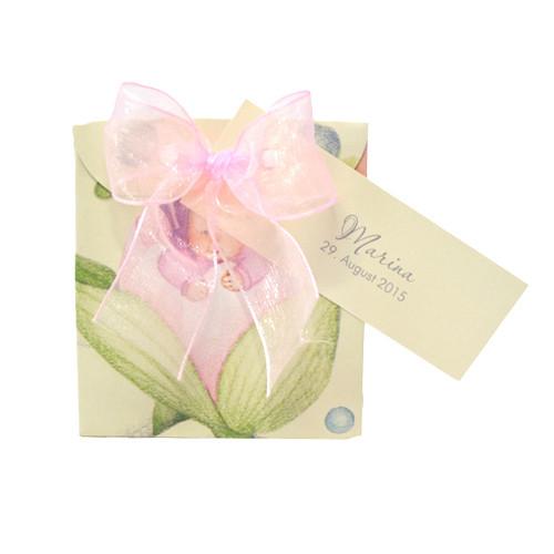 Kartonage 'Sacchetto Tulpe' - rosa