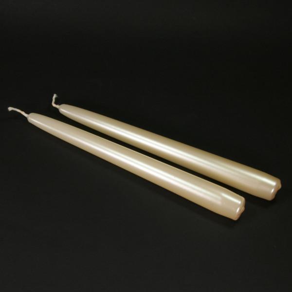 Spitzkerzen (2 Stück) - pearl
