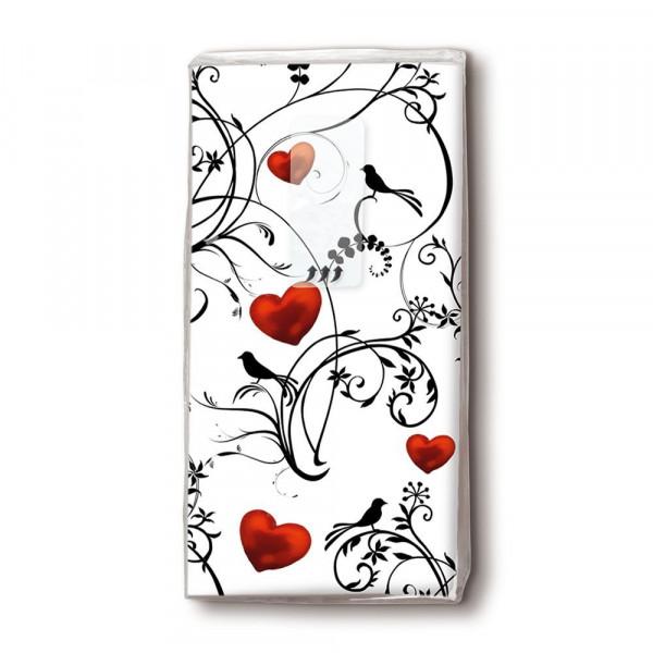 Taschentücher 'Ornament White Heart' 10 Stück
