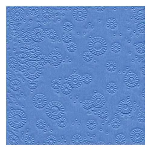 Servietten Moments geprägt (16 Stück) - blau