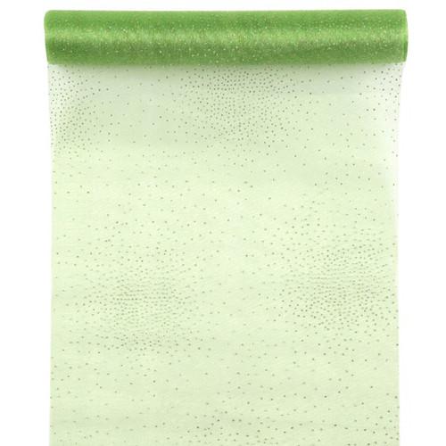 Tischläufer Glamour 28 cm x 5 m - hellgrün