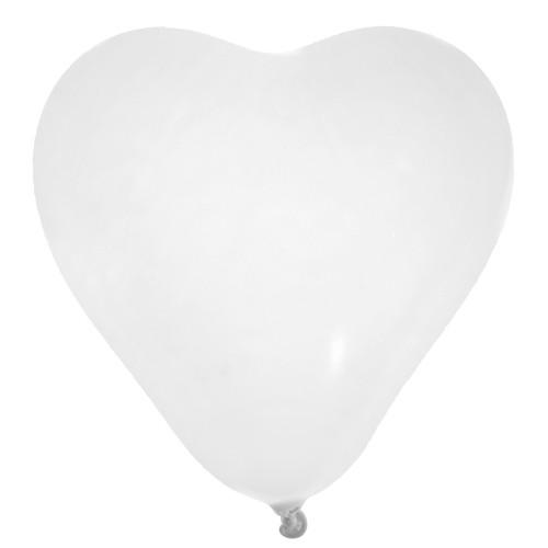 Luftballons 'Herz' / Herzballons (8 Stück) - creme