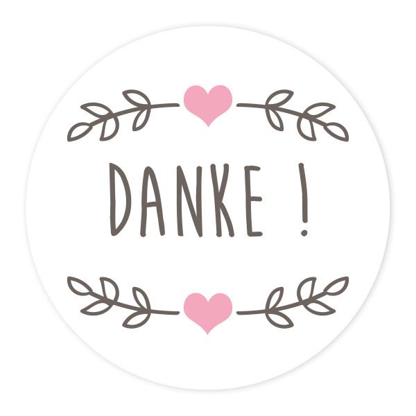 24 Aufkleber 'Young Love - Danke'
