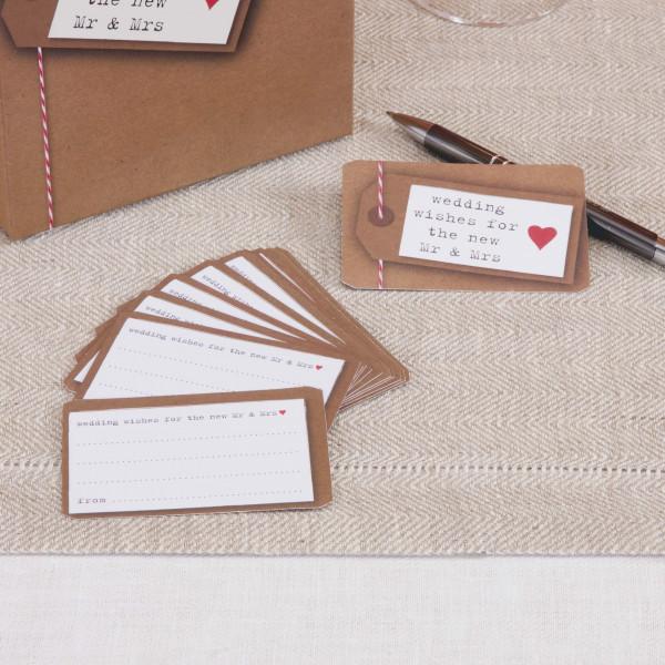 Wunschkarten Wedding Wishes 'Just my Type' (25 Stück)