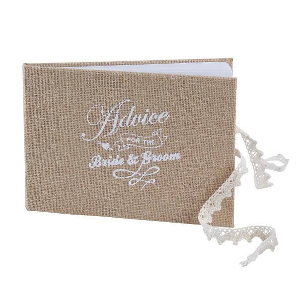 Gästebuch Hochzeit 'Advice' 24 x 17cm - Jute