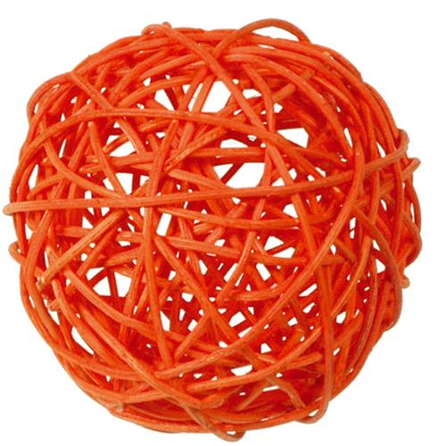 Rattankugeln (10 Stück) 3, 4 & 7 cm - orange