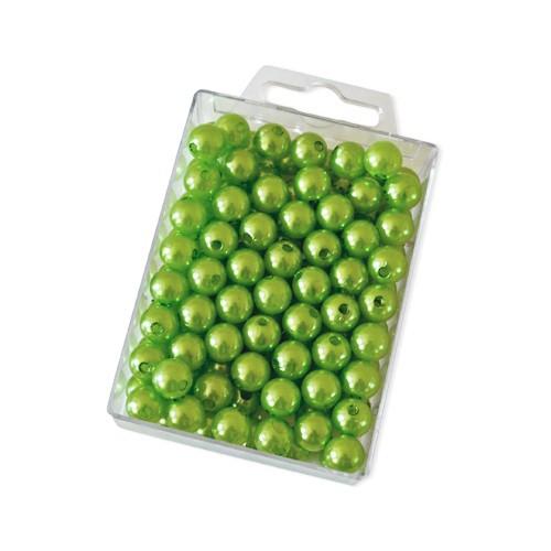 Dekoperlen zum Fädeln Hellgrün 10 mm 115 Stück