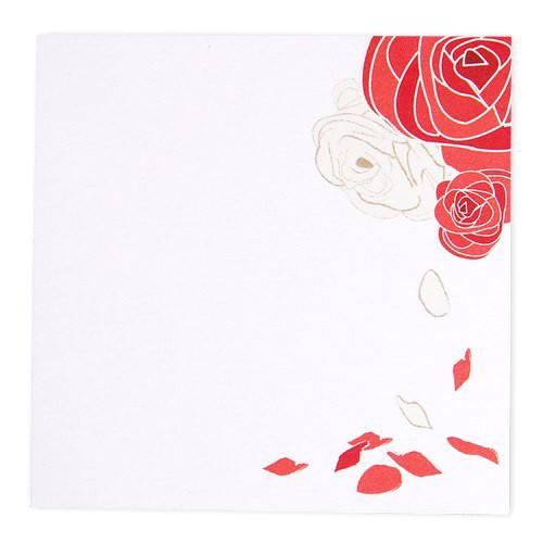 Tischkarte - Rosenblätter (1 Stück)