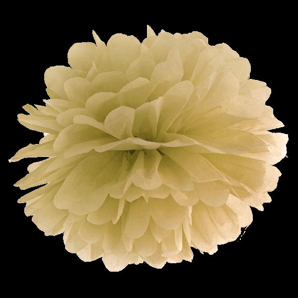Pompom 35 cm gold