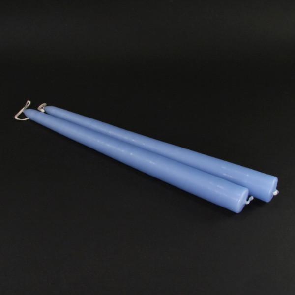 Spitzkerzen (2 Stück) - hellblau