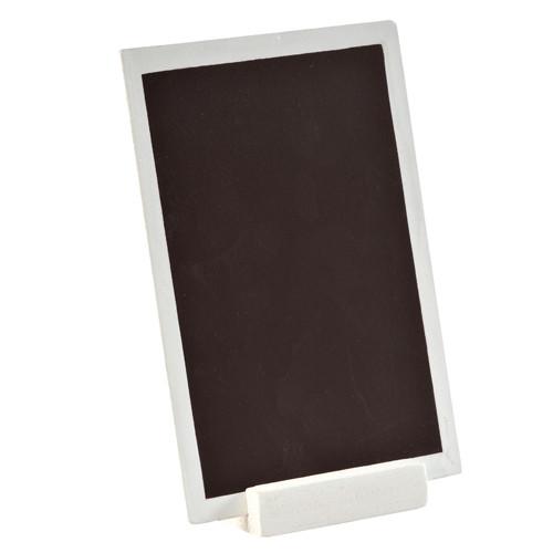 Tafel zum Stellen 10 x 15 cm - weiß
