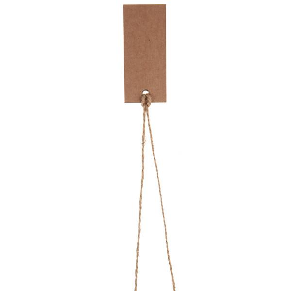 Tischkärtchen mit Satinband (12 Stück) - kraft