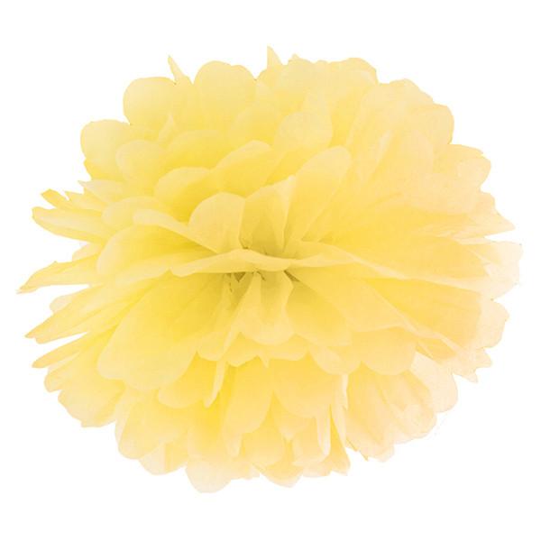 Pompom 35 cm gelb