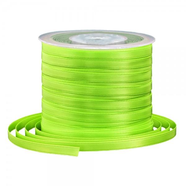 Satinband 6 mm x 91 m - hellgrün / limette