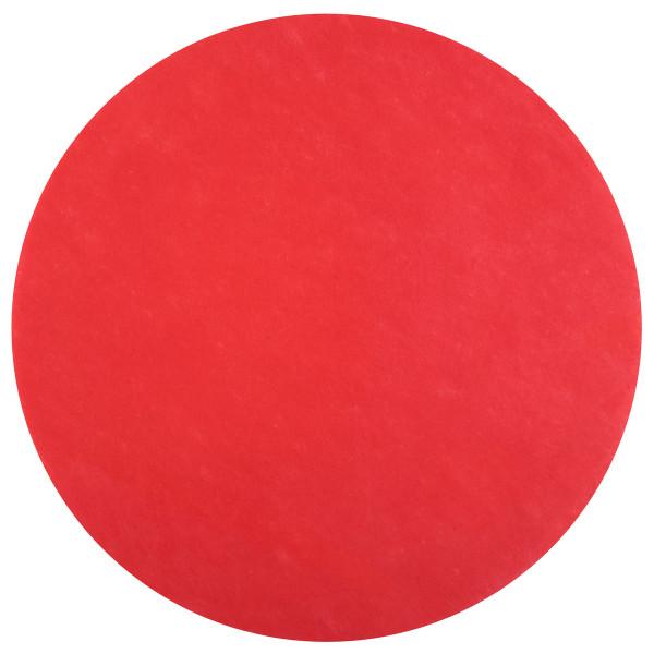 Platzset / Tischset Vlies rund 34 cm (50 Stück) - rot
