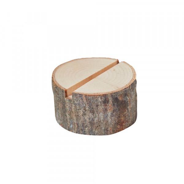 Tischkartenhalter 'Baumstamm' Holz (4 Stück)
